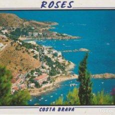 Postales: (1138) ROSES. COSTA BRAVA. LES SEVES PLATJES I COSTA. Lote 288567893