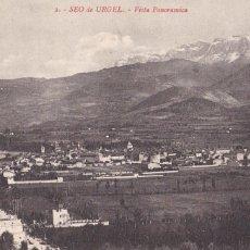 Postales: LLEIDA, SEO DE URGEL VISTA PANORAMICA. ED. LA MARAVILLA. Nº 2. SIN CIRCULAR. Lote 288568023