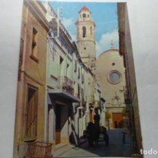 Postales: POSTAL CALELLA .- CALLE OBISPO SIVILLA-IGLESIA CM. Lote 288571193