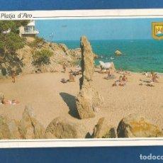 Postales: POSTAL CIRCULADA PLAYA DE ARO 151 COSTA BRAVA EDITA ESCUDO DE ORO. Lote 288592903