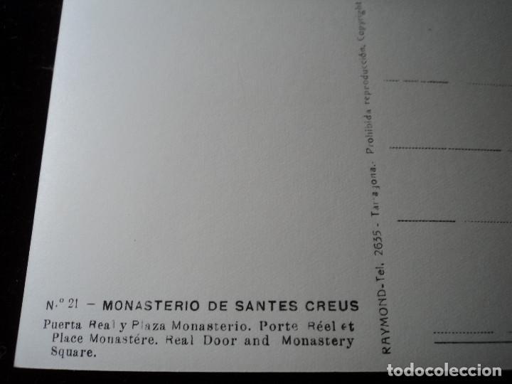 Postales: MONASTERIO DE SANTAS CREUS - Nº 21 - puerta real y plaza monasterio, FOT. RAYMOND - Foto 2 - 288662168