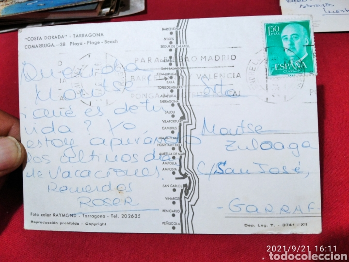 Postales: Postal comarruga playa, hotel - Foto 2 - 288663743