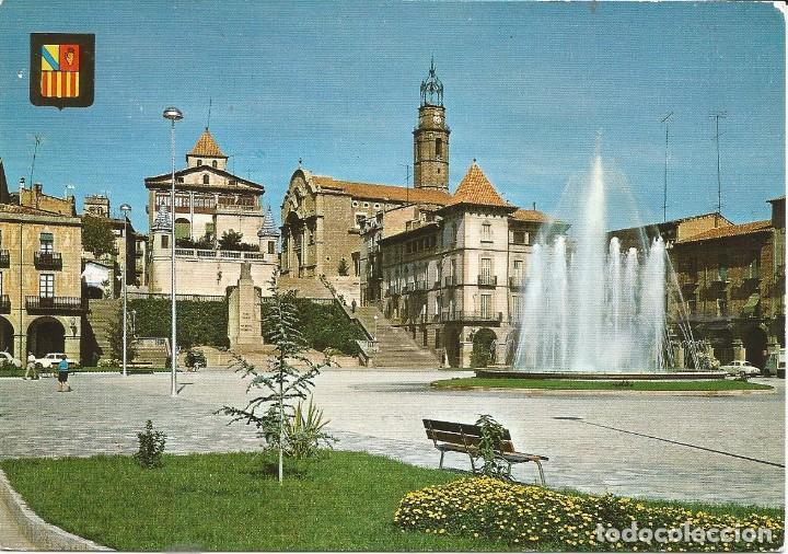 [POSTAL] PLAÇA D'ESPANYA I FONT MONUMENTAL. MANLLEU (BARCELONA) (SIN CIRCULAR) (Postales - España - Cataluña Moderna (desde 1940))