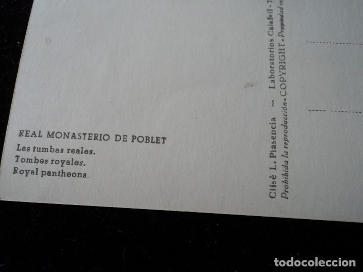 Postales: real monasterio de poblet, las tumbas reales, clise, l. plasencia - Foto 2 - 288666633