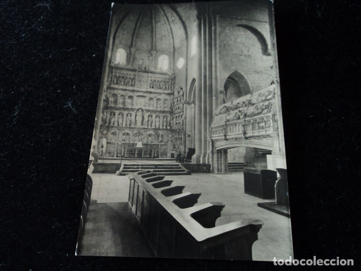 REAL MONASTERIO DE POBLET, DETALLE DE LA NAVE, CLISE, L. PLASENCIA (Postales - España - Cataluña Moderna (desde 1940))