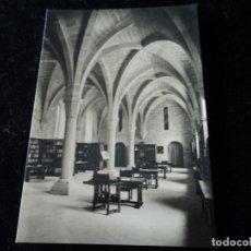 Postales: REAL MONASTERIO DE POBLET, LABIBLIOTECA, CLISE, L. PLASENCIA. Lote 288666933