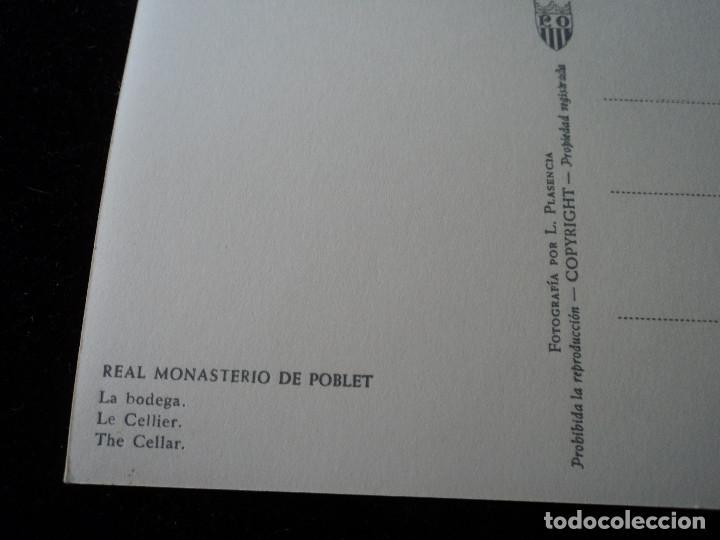 Postales: real monasterio de poblet, la bodega, clise, l. plasencia - Foto 2 - 288667243