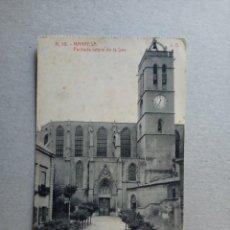 "Postales: POSTAL ANTIGÜA DE MANRESA "" FACHADA LATERAL DE LA SEO"" N. 19 DE FOTOTIPIA THOMAS. Lote 288688038"