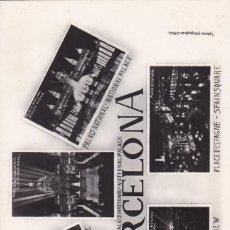 Postales: BARCELONA, VARIAS VISTAS. ED. TALLERES FOTOGRAFICOS ORIOL. SIN CIRCULAR. Lote 288695093