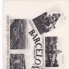 Postales: BARCELONA, VARIAS VISTAS. ED. TALLERES FOTOGRAFICOS ORIOL. SIN CIRCULAR. Lote 288695303