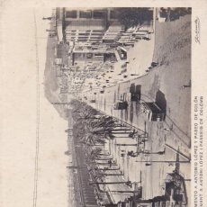 Postales: BARCELONA, MONUMENTO A ANTONIO LÓPEZ PASEO COLÓN. ED. ZERKOWITZ Nº 57- 974. FOTOGRAFICA SIN CIRCULAR. Lote 288697613