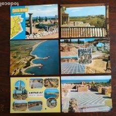 Postales: UNA POSTAL DE AMPURIES VISTAS RUINAS GRECO ROMANAS EN LA COSTA BRAVA DE GIRONA 6 TARJETAS A ELEGIR. Lote 289501613