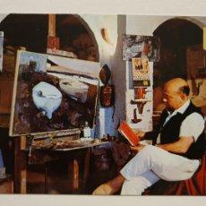 Postales: LLANÇÀ - EL PINTOR J. MARTÍNEZ LOZANO EN SU ESTUDIO - P65280. Lote 289502668
