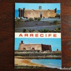 Postales: POSTAL DEL PUEBLO DE ARRECIFE CASTILLO DE SAN JORGE Y SAN GABRIEL, SITUADO EN EL ESTE DE LANZAROTE. Lote 289742153