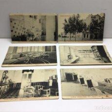 Postales: LOTE DE POSTALES CLINICA OPERACIONES DR. E. RIBAS Y RIBAS - FOTOTIPIA THOMAS BARCELONA. Lote 289837508