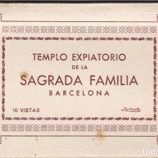 Postales: BARCELONA, TEMPLO EXPIATORIO DE LA SAGRADA FAMILIA, BLOC POSTAL CON 10 POSTALES, ED. ZERKOWITZ. Lote 289877288