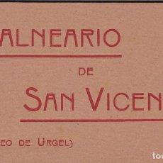 Postales: LLEIDA, SEO DE URGELL BALNEARIO SAN VICENTE, BLOC POSTAL CON 12 POSTALES. NO CONSTA EDITOR. Lote 289879593