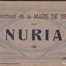 Postales: GIRONA, NURIA SANTUARI MARE DE DEU, BLOC POSTAL COMPLETO CON 12 POSTALES. ED. FOTO ROISIN. Lote 289880408
