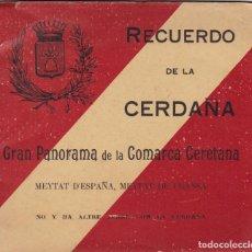 Postales: GIRONA, RECUERDO DE CERDAÑA. BLOC POSTAL DESPLEGABLE CON UNA IMAGEN PANORAMICA DE 120 X 14 CM.. Lote 289894278