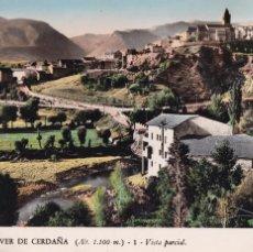 Cartoline: LLEIDA, BELLVER DE CERDAÑA VISTA PARCIAL. ED. V. CLAVEROL Nº 1. BYN COLOREADA. CIRCULADA. Lote 293272188