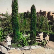 Cartoline: BARCELONA, TARRASA CASTILLO Y CARTUJA DE VALLPARADIS. ED. RO-FOTO. BYN COLOREADA. ESCRITA. Lote 293273818