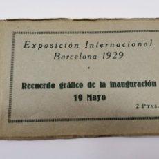 Postales: P-12885. EXPOSICION INTERNACIONAL BARCELONA 1929. RECUERDO GRÁFICO DE LA INNAGURACION 19 MAYO.. Lote 294366113
