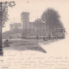 Postales: BARCELONA, GRAN VIA. ED. HAUSER Y MENET Nº 254. REVERSO SIN DIVIDIR. CIRCULADA EN 1906. Lote 294437178