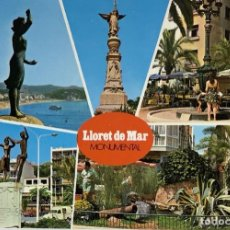Postales: GERONA, LLORET DE MAR MONUMENTAL. FACSA, SIN CIRCULAR 1974.. Lote 294450323