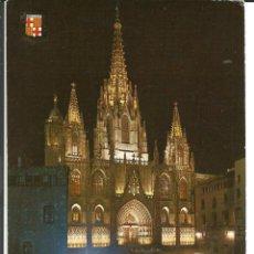 Postales: POSTAL BARCELONA - FACHADA DE LA CATEDRAL- FISA 1970 - SIN USAR. Lote 294451268