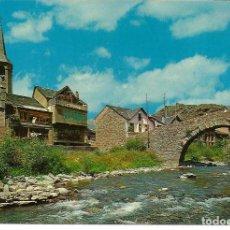 Postales: POSTAL ESTERRI DE ANEU (LLEIDA) - VISTA PARCIAL Y PUENTE ROMANICO - EDIC. SICILIA 1974 - SIN USAR. Lote 294452688