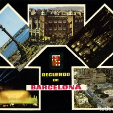 Postales: Nº 1229-BARCELONA. MONUMENTO A COLÓN. PLAZA DE TOROS... CIRCULADA EN 1967. COM.ESCUDO DE ORO. Lote 294460063