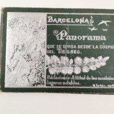 Postales: P-12903. BARCELONA, PANORAMA DESDE LA CUSPIDE DEL TIBIDABO. M. ESTIVILL.. Lote 295034418