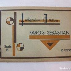 Postales: LLAFRANC-FARO DE SAN SEBASTIAN-BLOC CON 10 POSTALES ANTIGUAS-VER FOTOS-(85.140). Lote 295355383