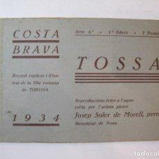 Postales: TOSSA-SERIE 4-ANY 1934-BLOC AMB 7 POSTALS ANTIGUES-JOSEP SOLER DE MORELL-VER FOTOS-(K-4430). Lote 295358418