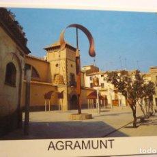 Postales: POSTAL AGRAMUNT PL. MERCAT Y ESPAI GUINOVART. Lote 295383698