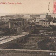 Postales: TARRAGONA - ESTACIÓ Y MUELLE.. Lote 295498973