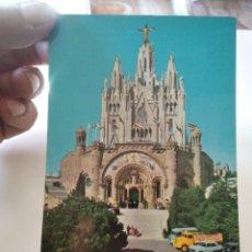 Postales: POSTAL TIBIDABO IGLESIA COCHES ÉPOCA. Lote 295794008