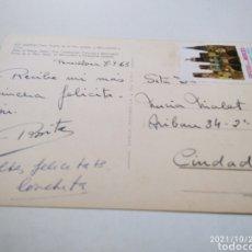 Postales: POSTAL BARCELONA PUERTA DE LA PAZ ESTATUA COLÓN, VIÑETA FIESTAS DE LA MERCED 1963. Lote 295794928