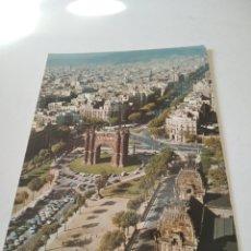 Postales: POSTAL BARCELONA VISTA AÉREA ARCO DEL TRIUNFO. Lote 295796123