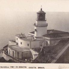 Postales: GIRONA, PALAFRUGELL FARO ST. SEBASTIA. ED. FOTO PUIGNAU. SIN CIRCULAR. Lote 295984553