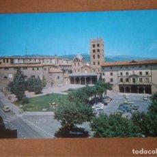 Postales: RIPOLL (GIRONA) - AYUNTAMIENTO. MONASTERIO. MUSEO DE SAN PEDRO. Lote 296585098