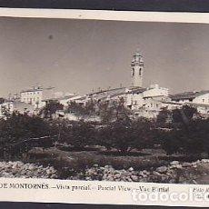 Postales: POSTAL POBLA DE MONTORNES VISTA PARCIAL. Lote 296629163