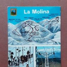 Postales: POSTAL 1957 ESCUDO DE ORO. LA MOLINA. PIRINEU CATALÁ. GERONA. 1965. SIN CIRCULAR. SELLO SUPERMOLINA.. Lote 296629283