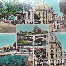 Postales: POSTAL MANRESA VARIAS VISTAS. Lote 296629353