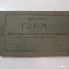 Postales: TREMP-EMBALSE S.ANTONIO INSTALACIONES HIDRO ELECTRICAS-BLOC DE POSTALES ANTIGUAS-VER FOTOS-(85.376). Lote 296895248
