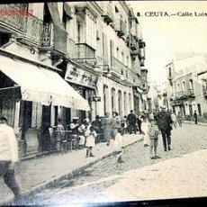 Postales: ANTIGUA POSTAL DE CEUTA - CALLE LUIS DE TORRES. Lote 9196064