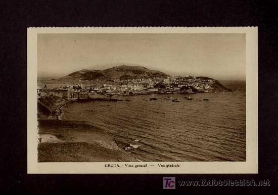 POSTAL DE CEUTA: VISTA GENERAL (Postales - España - Ceuta Antigua (hasta 1939))