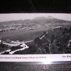 Postales: 17.-CEUTA. UNA HERMOSA VISTA DEL GRAN PUERTO AFRICANO. FOT. RUBIO, 14X9 CM. .-. Lote 6596923
