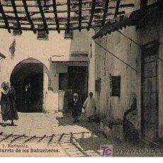 Postales: TETUAN. BARRIO DE LOS BABUCHEROS. HAUSER Y MENET. NO CIRCULADA. Lote 17721613