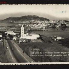 Postales: CEUTA. UNA VISTA DE LA HERMOSA CIUDAD ESPAÑOLA DE AFRICA. FOTO RUBIO.. Lote 24728590